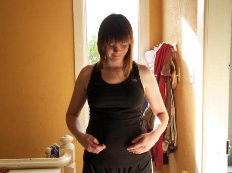 four months pregnant